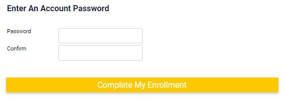 Pref Cust _ password _ complete enrollment button